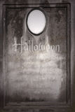 Old blank Halloween gravestone Royalty Free Stock Image