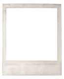 Old blank instant photo frame Stock Images