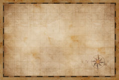 Old blank map background. Old blank treasure map background Royalty Free Stock Photography