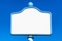 Old blank metal sign Stock Image