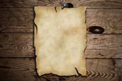Old blank paper Stock Images