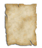 Old blank paper. Isolated on white vector illustration