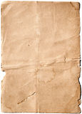 Old Blank Paper. Stained old paper with rough edges royalty free stock photography