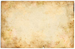 Old Blank Paper. Old mottled paper with grungy stains Royalty Free Stock Photography