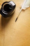 Old blank paper and quill pen Royalty Free Stock Images
