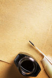 Old blank paper and quill pen Royalty Free Stock Photography