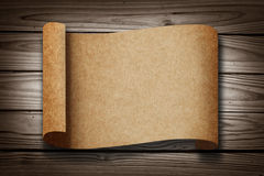 Old blank Paper on Wood Texture Royalty Free Stock Photography