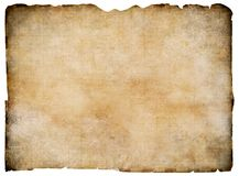 Old blank parchment treasure map isolated