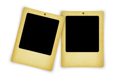 Old blank photo frame isolated on white Royalty Free Stock Photos