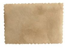 Old blank photo paper for background Stock Images