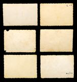 Old blank photographic paper Stock Image
