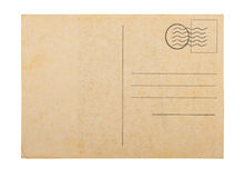 Old blank  post card white background. Old blank post card white background, clipping path Royalty Free Stock Photos