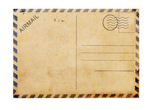 Old blank  post card white background. Old blank post card white background, clipping path Stock Photo