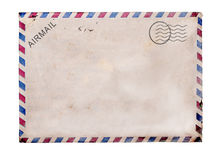Old blank  post card white background. Old blank post card white background, clipping path Stock Photography