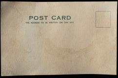 Old Blank Postcard Background Royalty Free Stock Photography