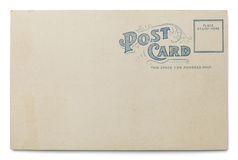 Old Blank Postcard Stock Images