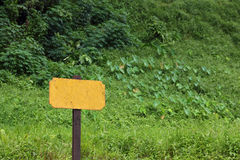 Old blank railway sign Royalty Free Stock Photography