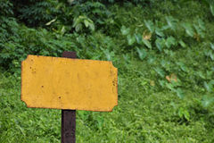 Old blank railway sign closeup Royalty Free Stock Image