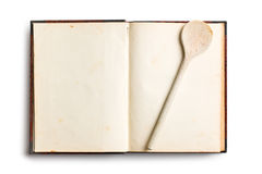 Old blank recipe book. On white background Stock Images