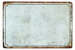 A old blank rusty metal sign. With a copy space background for your text royalty free stock photo