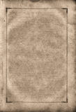 Old blank shabby page. Stock Photos