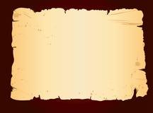 Old blank sheet of paper. On dark grunge background royalty free illustration