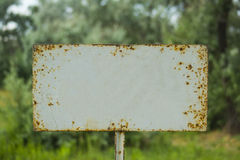 Old blank signboard Stock Photo