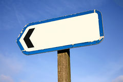 Old blank signpost. Royalty Free Stock Image