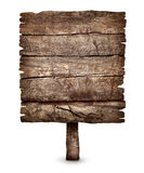Old blank weathered wooden board sign Royalty Free Stock Photo