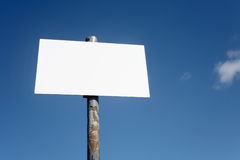 An old blank white sign. Royalty Free Stock Photos