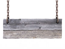 Old blank wooden sign Royalty Free Stock Photography