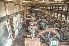 Old blast furnace in Bethlehem, Pennsylvania Royalty Free Stock Image