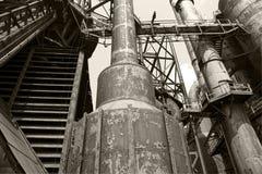 Old blast furnace. Vintage blast furnace in Bethlehem, Pa royalty free stock photo
