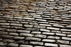 Old block pavement Stock Images