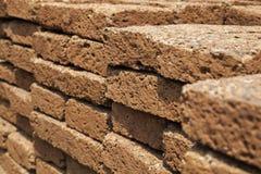 Old block sandstone wall Stock Photo
