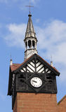 An Old Block and Timber Framed Clock Tower Royalty Free Stock Image