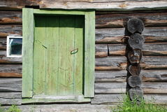 Old blockhouse. A blockhouse in the Russian village in Karelia Royalty Free Stock Photos