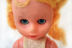Old blond doll Royalty Free Stock Photography