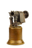 Old blowtorch. On a white background stock images