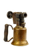 Old blowtorch. On a white background Stock Image