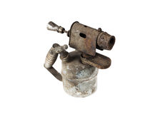 Old blowtorch isolated on white background Stock Images