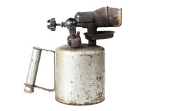 Old blowtorch isolated on white background Royalty Free Stock Image