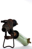 Old blowtorch. Vintage blowtorch tools objects Stock Photo