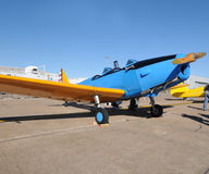 Old blue airplane Royalty Free Stock Images