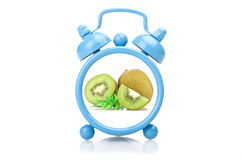 Old blue alarm clock Royalty Free Stock Image