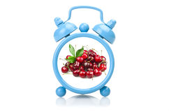 Old blue alarm clock Royalty Free Stock Photo