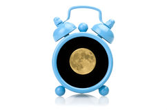 Old blue alarm clock concept Royalty Free Stock Photography