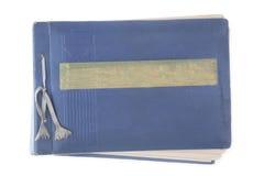 Old, blue album Stock Photo