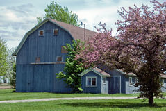 Old Blue Barn Stock Images