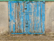 Old blue barn door Royalty Free Stock Image
